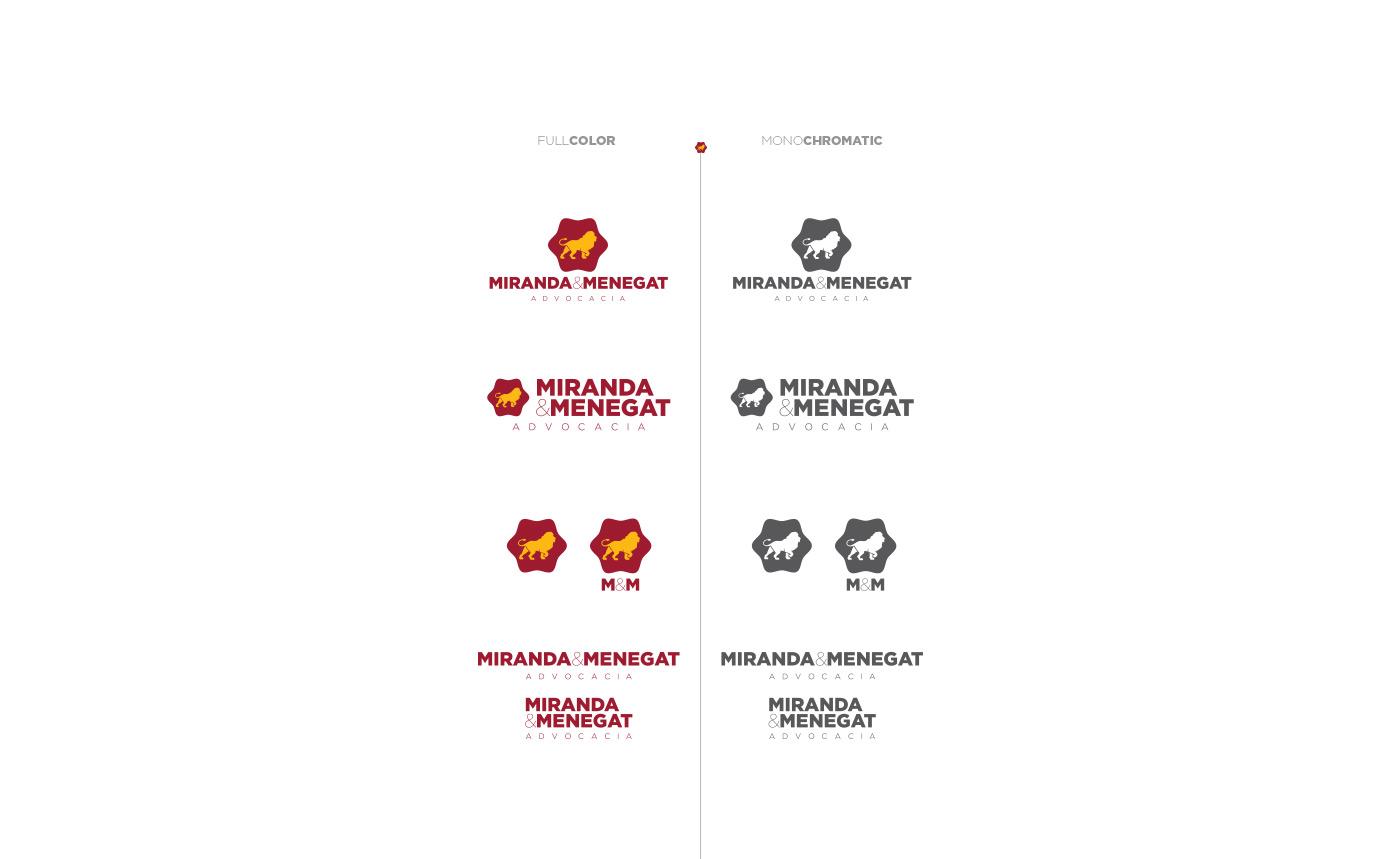 Portfolio - M&M Advogados - Branding - Variações de logotipo