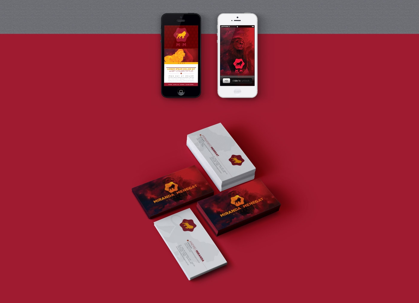 Portfolio - M&M Advogados - Branding - Identidade visual em uso