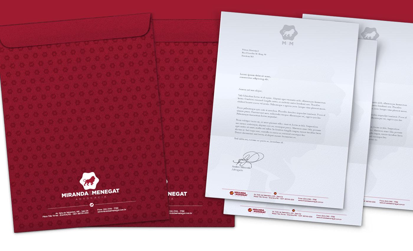 Portfolio - M&M Advogados - Branding - Papelaria